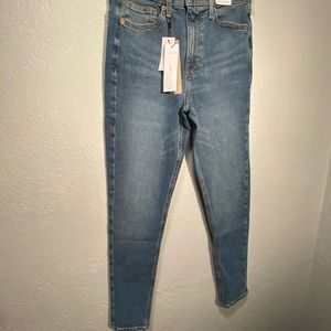 Topshop Womens Jeans Sz 6 High Rise Light Wash